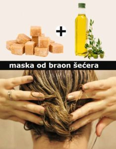 prirodne maske za kosu - maska od šećera