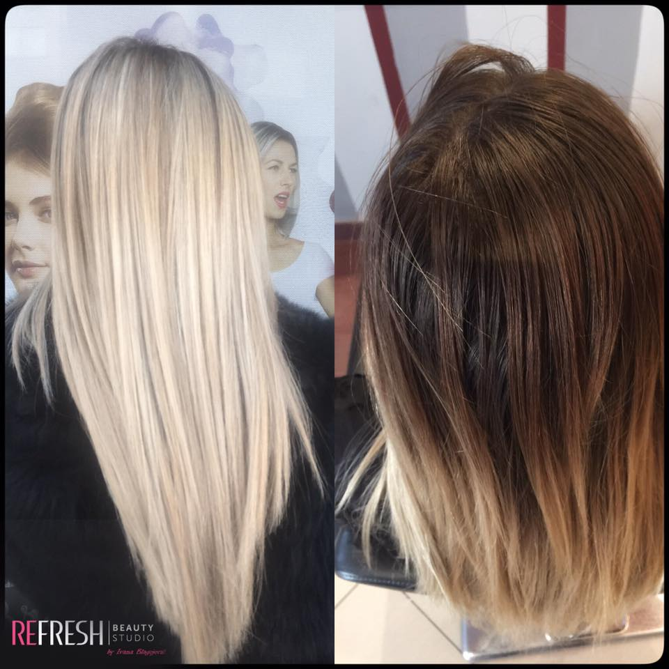nadogradnja plave kose keratinom